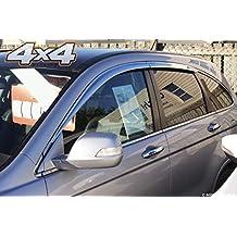 Autoclover - Juego de deflectores de Viento cromados para Honda CRV 2007-2012 (6