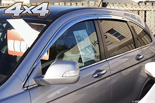 Autoclover Jeu de 6 déflecteurs d'air chromés pour Honda CRV 2007-2012