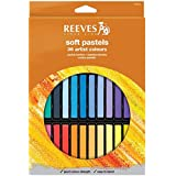 Reeves 8790225 - Set de 36 pasteles suaves, multicolor