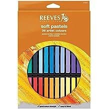 Reeves 8790225 - Set de 36 pasteles suaves, multicolor