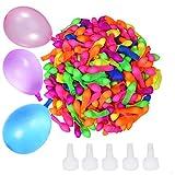 Transino 500 Stück Wasserbomben Schnellfüller Wasserballons Selbstschließend Wasserbombe Klein for Wasserbomben Spiel Bunt