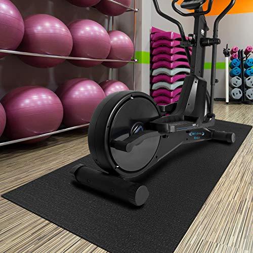 Strapazierfähige Bodenschutzmatte für Fitnessgeräte | rutschfest, geräuschdämmend, fußwarm | Zuschneidbare Trainingsmatte | Unterlegmatte für Laufband Crosstainer Rollentrainer | 91 x 198 cm
