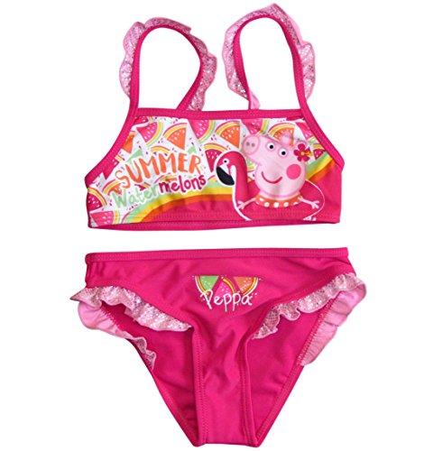 Peppa Wutz Bikini Bademode 2018 Kollektion 92 98 104 110 116 122 128 Neu Peppa Pig Fuchsia (Fuchsia, 110 - 116; Prime) (Peppa Badeanzüge Für Mädchen)