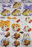 3D Bogen Kuchen Torte Le Suh A4 basteln Scrapbook Stanzbogen