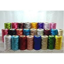 25 x Bobinas de Seda Brillantes Hilo de Bordar 25 Diferentes Colores Excelente Calidad