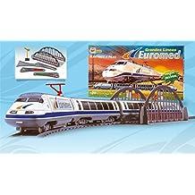 Tren Electrico de Juguete Replica del Talgo Euromed Grandes Lineas Renfe con Puente Desvios y Accesorios 780