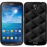 DesignedByIndependentArtists Hülle für Samsung Galaxy Mega 6.3 GT-I9205 - Schwarzes Leder-Effekt by Wamdesign