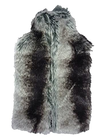 Deluxe Designer Thick Faux Fur 2 Litre Hot Water Bottle & Cover: Chinchilla by Vagabond