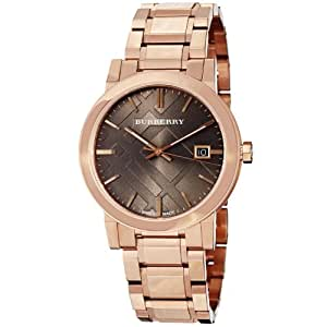 Burberry BU9005 38mm Gold Steel Bracelet & Case Anti-Reflective Sapphire Men's Watch