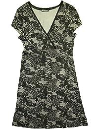 Chillytime Damen T-Shirt-Kleid // 488995 // schwarz + weiß (34)