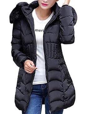 FNKDOR Abrigo de mujer sexy, chaqueta larga para mujer de invierno de moda cálido abrigo de algodón delgado parka...
