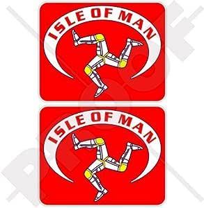 Isle Von Man Flagge Celtic Tt Rennen Manx 75mm Auto Motorrad Aufkleber X2 Vinyl Stickers Garten