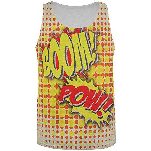 Halloween Boom Pow Vintage-Comic-Buch-Kostüm Aller Herren Tank Top Multi LG