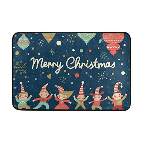 s Weihnachten Clown Fußmatte, Eintrag Weg Indoor Outdoor-Tür-Wolldecke mit Anti-Rutsch-Unterlage, (23.6 von 15.7-inch) 23.6x15.7 Zoll Mehrfarbig (Vinyl Clown Schuhe)