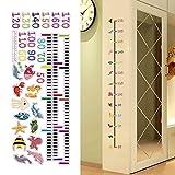 Cartoon Sea Animals removibile altezza grafico Wall Sticker per bambini crescita grafico misura di adesivo da parete Decor vivaio decorazione