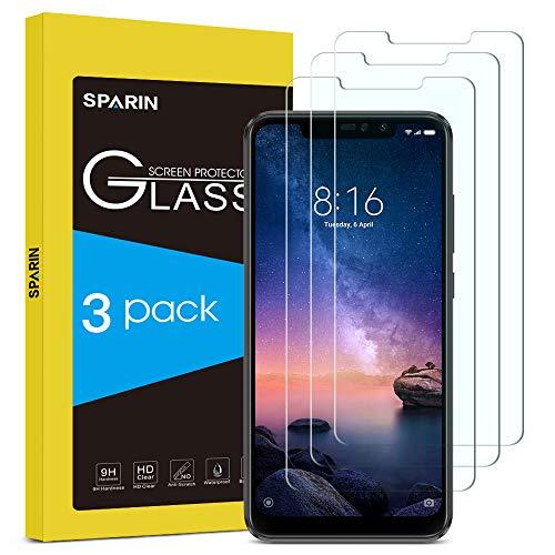 SPARIN [3-Pack Cristal Templado Xiaomi Redmi Note