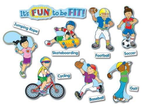 It's Fun to Be Fit Bulletin Board Set (14x14 Bulletin Board)