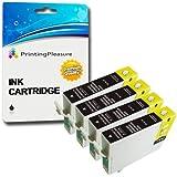 4 NERO Compatibili 16XL Cartucce d'inchiostro per Epson Workforce WF-2010W, WF-2510WF, WF-2520NF, WF-2530WF, WF-2540W, WF-2630WF, WF-2650DWF, WF-2660DWF / T1631