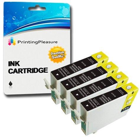 4 Compatibili 16XL Cartucce d'inchiostro per Epson Workforce WF-2010W WF-2510WF WF-2520NF WF-2530WF WF-2540W WF-2540WF WF-2630WF WF-2650DWF WF-2660DWF WF-2750DWF WF-2760DWF - Nero, Alta Capacità