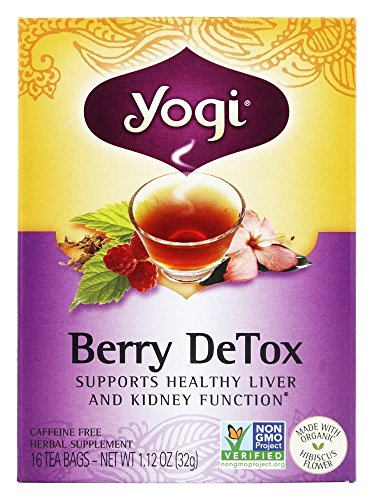 Yogi Tea - Berry DeTox With Organic Hibiscus Caffeine Free Tea - 16 Tea Bags