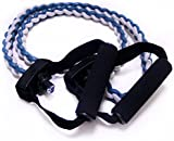 Adjustable Exercise Resistance Tension Tube Bands-CMXING Elastic Pull Rope Perfect for Resistance Training Weight Lifting Yoga Pilates Abs Exercise Stretch Fitness Gym with Foam Handles(1pcs)