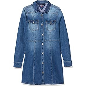 Tommy Hilfiger Denim Shirt Dress Dbstr suéter para Mujer