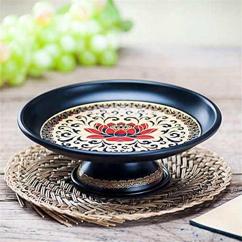 PORCN Obstteller Antike Tang Lotus für buddhistische Lieferungen Legierung Obstteller für...