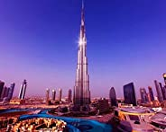 OKOUNOKO 1000 pieces Jigsaw Puzzles,Burj Khalifa, jigsaw children puzzles for grown ups, Give children great e