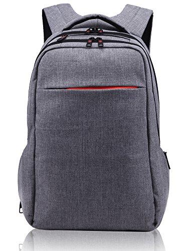 Norsens-Computer-Rucksack-mit-Fchern-fr-bis-zu-156-Zoll-LaptopsNotebookSlim-Rucksack-dunkelgrau