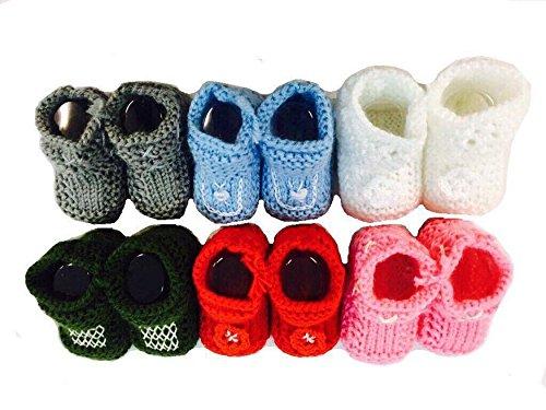 AUCUNE Tricoté à la main Chaud Chaussures Bébé Nouveau-né Cadeau dans Design différent en Vert