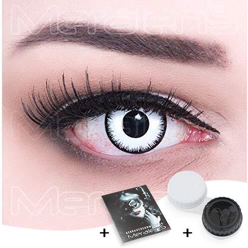 Funnylens 1 Paar farbige Crazy Fun citrus Jahres Kontaktlinsen. perfekt zu Halloween, Karneval, Fasching oder Fasnacht mit gratis Kontaktlinsenbehälter ohne Stärke!