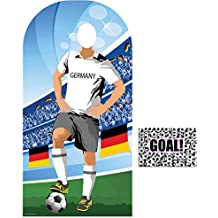 BundleZ-4-FanZ by Starstills Fan Pack - World Cup Football 2018 Germany Stand-In Lifesize Adult Cardboard Cutout with 20cm x 25cm Star Photo