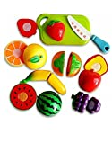 #2: Stuff Jam Realistic Sliceable Fruits Cutting Play Toy Set with Velcro, Multi Color