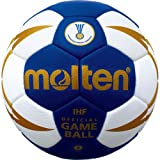 Molten Handball, mehrfarbig (Blau/Weiß/Gold), 2, H2X5001-BW-X