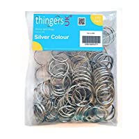 Thingers UK 100 Split Rings - 25mm Key Rings