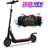 urbetter Folding Electric Scooter 350W Motor LCD Display Screen 3 Speed Modes 8 Inch Honeycomb Explosion-Proof Tire 30km Long Range Electric Kick Scooter with LED Light and Bag- S1 Pro