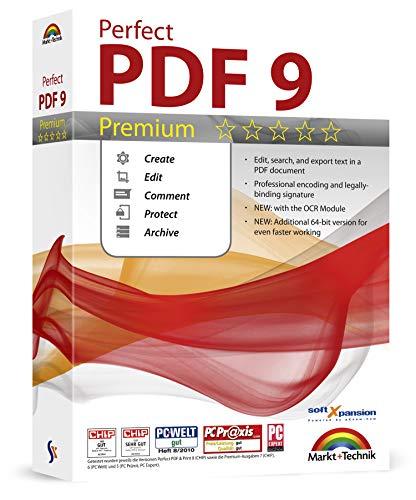 Perfect PDF 9 Premium Edition - mit OCR Modul - PDFs erstellen, bearbeiten, konvertieren, umwandeln, schützen, Kommentare hinzufügen, Digitale Signatur einfügen | 100{5eff5e75ad4262d20e5f1500b22703434a05e18acdd902bfc7cc636c4de616ff} Kompatibel mit Adobe Acrobat