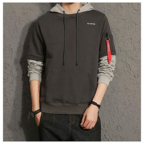 DeLamode Japan Cap Hoodies O-Neck Student Mode Pullover Mantel Darkgrey-S