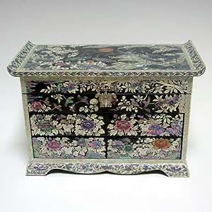 bo te bijoux coffret oriental grand luxe 4 tiroirs. Black Bedroom Furniture Sets. Home Design Ideas