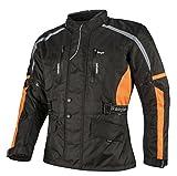 Ledershop-online Bangla Motorradjacke Tourenjacke Textil Herren 1876 Schwarz Orange 8 XL