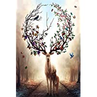 Yobooom Jigsaw Puzzles Wooden For Adults 1000 Piece Forest Deer