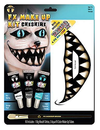 Grinsekatze Make-Up Spezialeffekt-Schmink-Set Halloween (Make Up-halloween Cat)