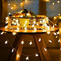 Star Fairy Lights, Sunnest String Lights Warm White 50 LED 5M Decoration Lightning for Christmas Wedding Birthday Holiday Party Indoor& Outdoor