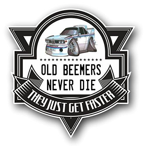koolart-cartoon-old-beemers-never-die-retro-bmw-3-litre-csl-vinyl-car-sticker-decal-badge-100x100mm-
