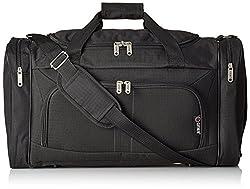 5Cities leichtes Handgepäck Kabinengröße Sportduffleltasche Reisetasche, Black (602) (schwarz) - HOLD602 Black
