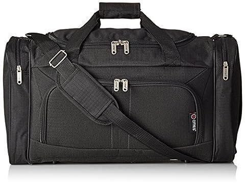 Sac fourre-tout 5 Cities léger pour bagage à main ou de cabine, de sport, Black (602) (noir) - HOLD602 BLACK