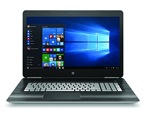 HP Pavilion 17-ab200na Laptop (17.3 inch, Full HD, Intel Core i7-7700HQ, 16 GB RAM, 128 GB SSD, 1 TB HDD, Windows 10) - Natural Silver