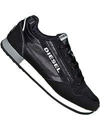 Diesel-Tm300a zapatillas para hombre, color blanco y negro