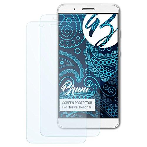 Bruni Schutzfolie kompatibel mit Huawei Honor 7i / ShotX Folie, glasklare Bildschirmschutzfolie (2X)