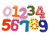 Picture of Tinxs Funky Fun Colorful Magnetic Numbers Wooden Fridge Magnets Kids Educational toys